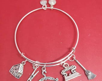 Housekeeper Themed Charm Bracelet