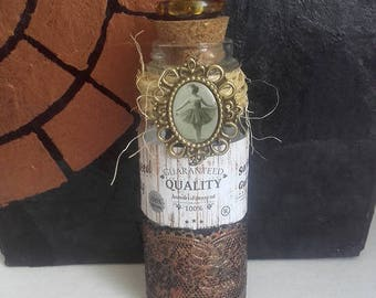 "Pretty ""Dancer"" apothecary glass bottle"