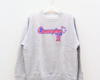 Vintage CHAMPION Product 2 Sportswear Gray Pullover Sweater Sweatshirt