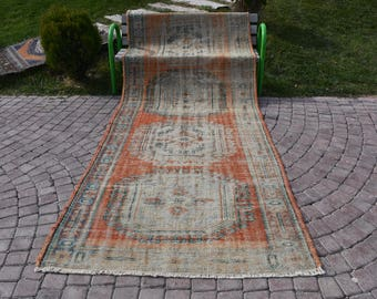 Faded Color Vintage Runner Area Rug Free Shipping 4.3 x 11 feet Bohemian Runner Rug Large Area Rug alfombra del área del corredor DC935