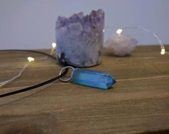 Aqua Aura Necklace, Aura Necklace, Aqua Aura Jewelry, Aqua Aura Quartz, Aqua Aura Quartz Necklace