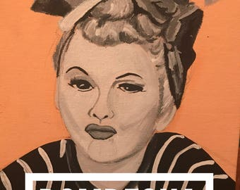 Mugshot I love Lucy art print