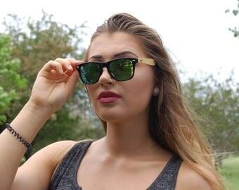 FREE SHIPPING - Daybreak Wood Wayfarers, Wooden Sunglasses, Wood Sunglasses, Bamboo Sunglasses, Wooden Eyewear, Zebra Wood Sunglasses