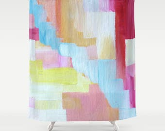 geometric shower curtain - Shower Curtain with Original Painting image - Shower Curtains - FREE Shipping