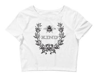 Bee Kind Women's Crop Tee