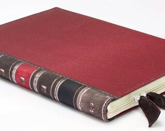 "11"" Macbook Air Case Red Old Vintage Book Case Antique Macbook Case 11 Laptop case Macbook Air 11 inch macbook sleeve macbook air sleeve"