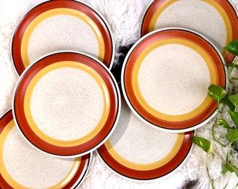 Imperial Tangerine Plates, Set of 6