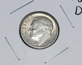 1962 Silver Dime 90% Silver!