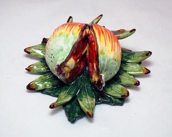 Sicilian Ceramic Fruit Decorative Wall Hanging - Pomegranate