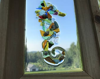 Sea Glass Art - Handmade Sea Horse