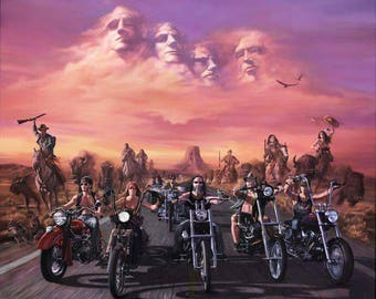 Four Fathers And Bikers Cross Stitch Pattern***LOOK***