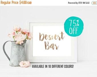 Dessert Bar, Dessert Bar Sign, Dessert Wedding Sign, Dessert Table Sign, Dessert, Gold Wedding, Pink Wedding, Printable Wedding, DIY Wedding