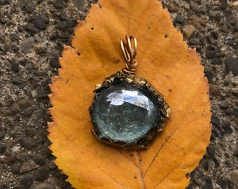 Gold Glass Pendant