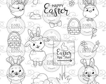 Easter bunnies - IsabelCristinaStamps