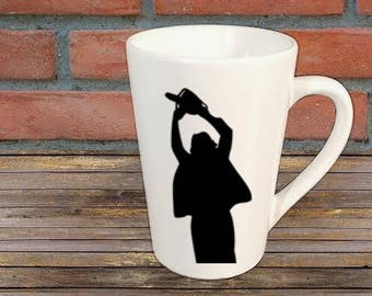 Leatherface Texas Chainsaw Massacre Mug Coffee Cup Halloween Gift Kitchen Bar Gift for Her Him Any Color Personalized Custom Merch Massacre