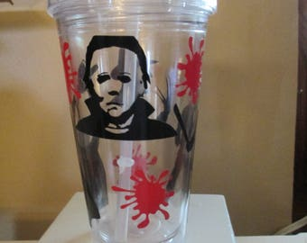 Slasher Freddy Jason Michael Leatherface Horror Tumbler Cup Gift Home Decor Gift for Her Him Any Color Personalized Custom