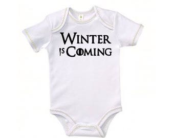 Winter is Coming Game of Thrones Baby Kids Children Shirt Bodysuit Many Sizes Colors Custom Horror Halloween Merch Massacre