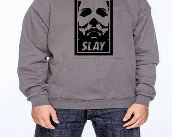 Michael Myers Slay Unisex Hoodie Pullover Hooded Sweatshirt Many Sizes Colors Custom Horror Halloween Merch Massacre