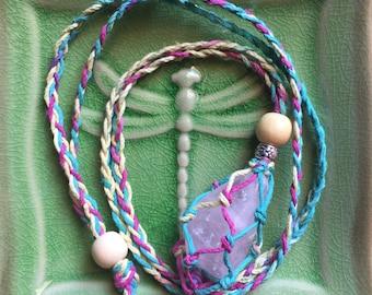 Variegated Rainbow Hemp Adjustable Interchangeable Necklace