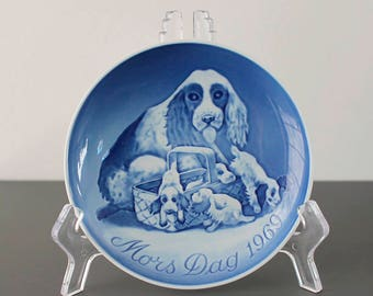 Vintage Bing and Grondahl Mothers' Day plate ( 1969) - First Mother's Day plate produced by BG