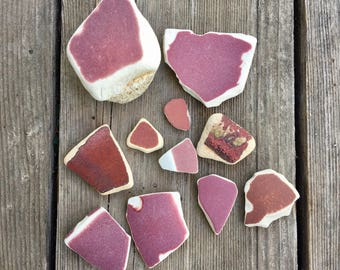 SEA POTTERY Shades of Red Beach Found