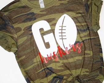 Go Huskers Shirt / Football Shirt / Nebraska Shirt / Huskers Shirt / Nebraska Huskers / Nebraska Huskers Football Shirt / Graphic Tee /