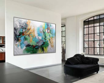 Abstract Painting Modern Art Wall Decor 48x72 120x180cm Extra Large 180cm 72