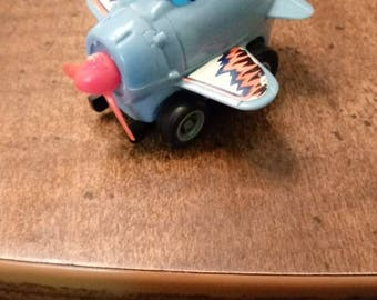 Extremely Rare Vintage 1982, Zoomin' Zero blue Takara airplane penny racer, penny car, wind back car