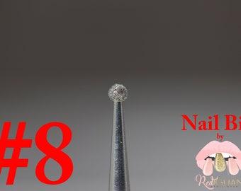 "Diamond Nail Bit ""Ball #8"" - 2.1mm"