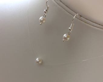 Swarovski Pearl Illusion Necklace & Earrings