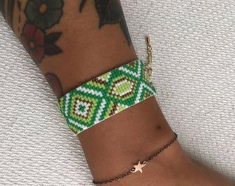 """Geometric"" beaded bracelet"