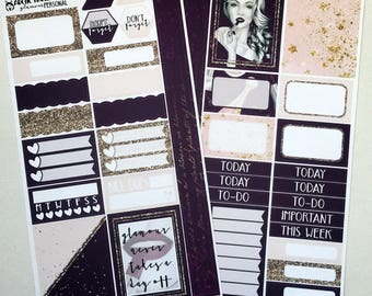 Glamour * NON-FOILED PERSONAL Sized Planner Sticker