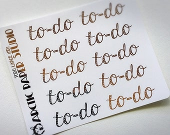 To-Do Large (HW) - FOILED Sampler Event Icons Planner Stickers