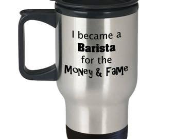 Barista Coffee Mug | Gift for Barista | Coffee Server Gift | Large 14 oz Travel Mug