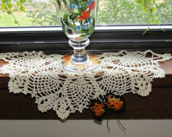 Pineapple and Butterfly Windowsill Doily