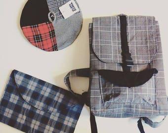 """Tartan Style"" backpack"