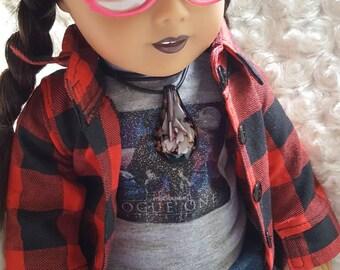 American Girl Doll Custom Repaint Grunge Punk