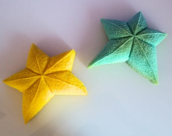 Scented sculpture in soft polyurethane rubber _ stars fallen from the sky