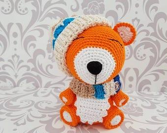 Cute crocheted amigurumi fox toy handmade süß gehäkelt fuchs geschenk idee