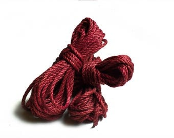Burgundy Shibari Jute Rope / suspension bondage kinbaku asanawa shibari rope jute bondage rope