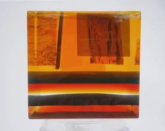 1960s Acrylic Lucite Cube Sculpture Pierre Giraudon Enzo Mari Era
