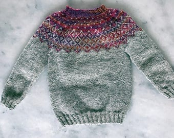 PDF sweater pattern Nordic Fair Isle sweater pattern Wool