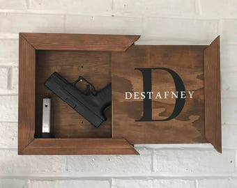 Hidden Storage Decorative Box   Hidden Gun Storage   Gun Storage   Shadow  Box   Last