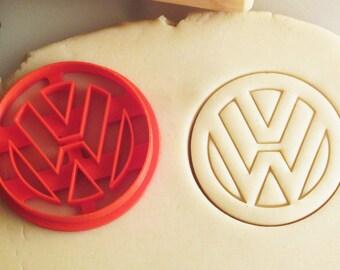 VW Volkswagen Emblem Badge Logo Cookie Cutter