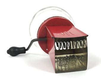 1940's | Vintage | Androck Nut Copper | red metal | glass jar