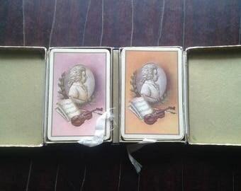 Bridge Playing Cards Mozart Piatnik - Made in Austria
