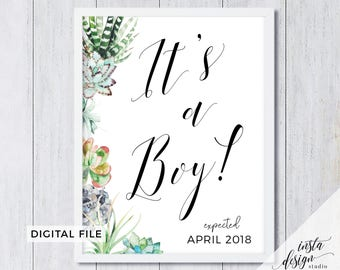 Custom Its a BOY! gender reveal PRINTABLE pregnancy announcement sign, Baby shower sign, nursery art, maternity photo session prop, DIGITAL