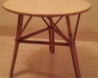 SOLD coffe Table in rattan