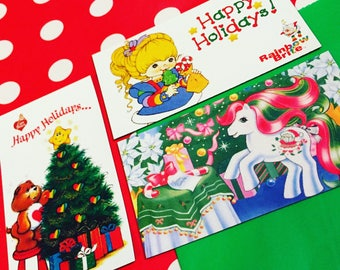 80s Holiday Magnet Set (Care Bears, Rainbow Brite, My Little Pony)