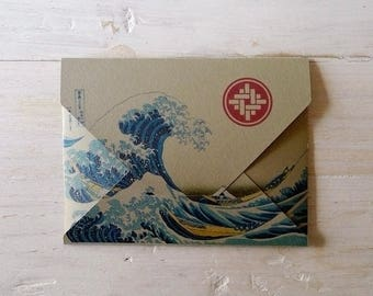 """Ticket envelope 7 Knots """"waves"""". Made of valuable cards."""